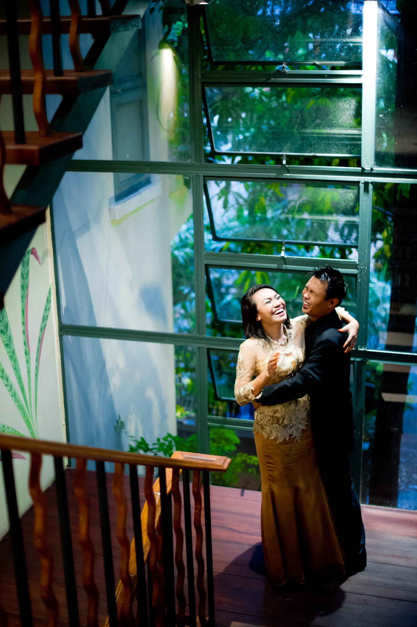 Bangkok engagement session (pre-wedding, prenuptial) at Ariyasom Villa in Thailand.
