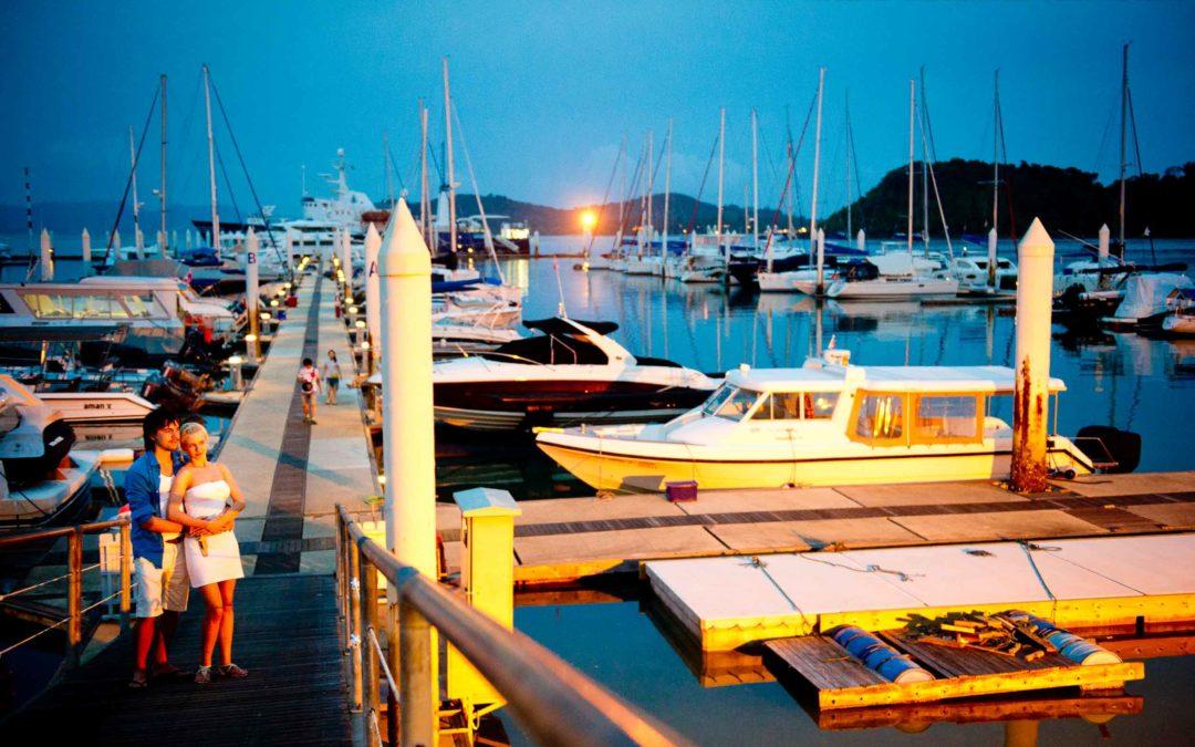 Phuket Honeymoon Photography at Ao Po Grand Marina