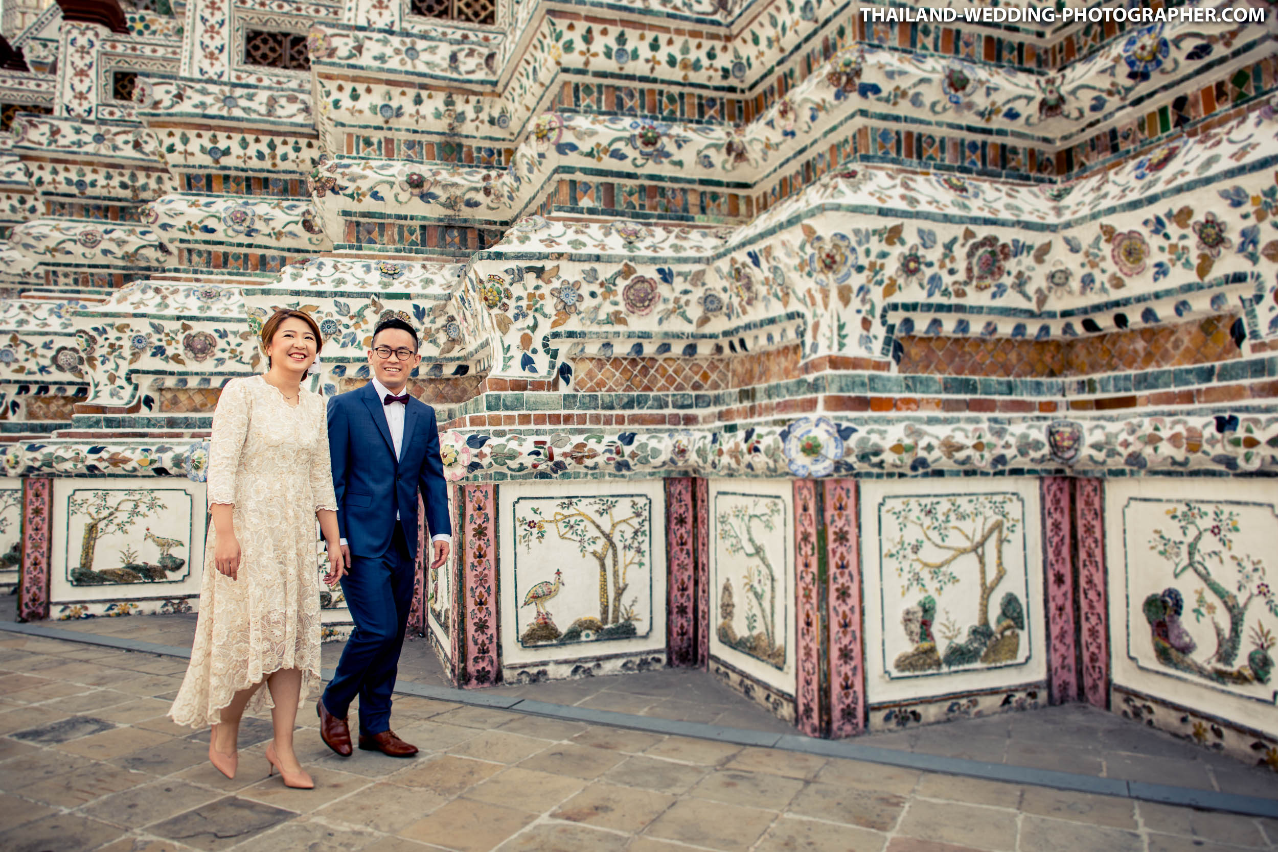 Wat Arun Bangkok Thailand Engagement Photography