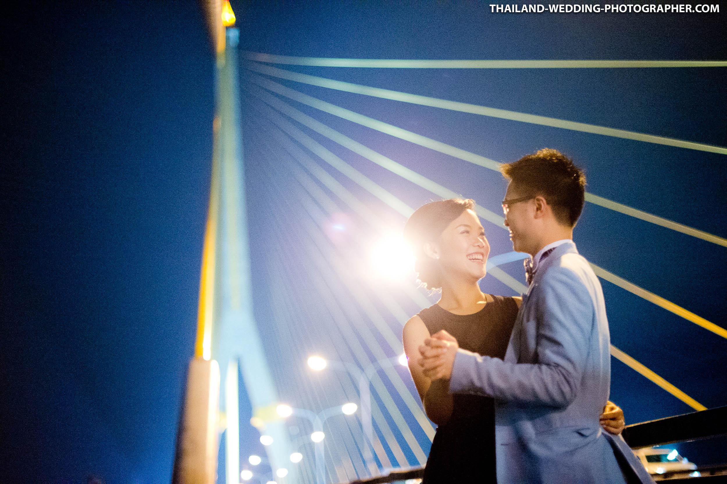 Thailand Bangkok Rama VIII Suspension Bridge Engagement Session   NET-Photography Thailand Photographer