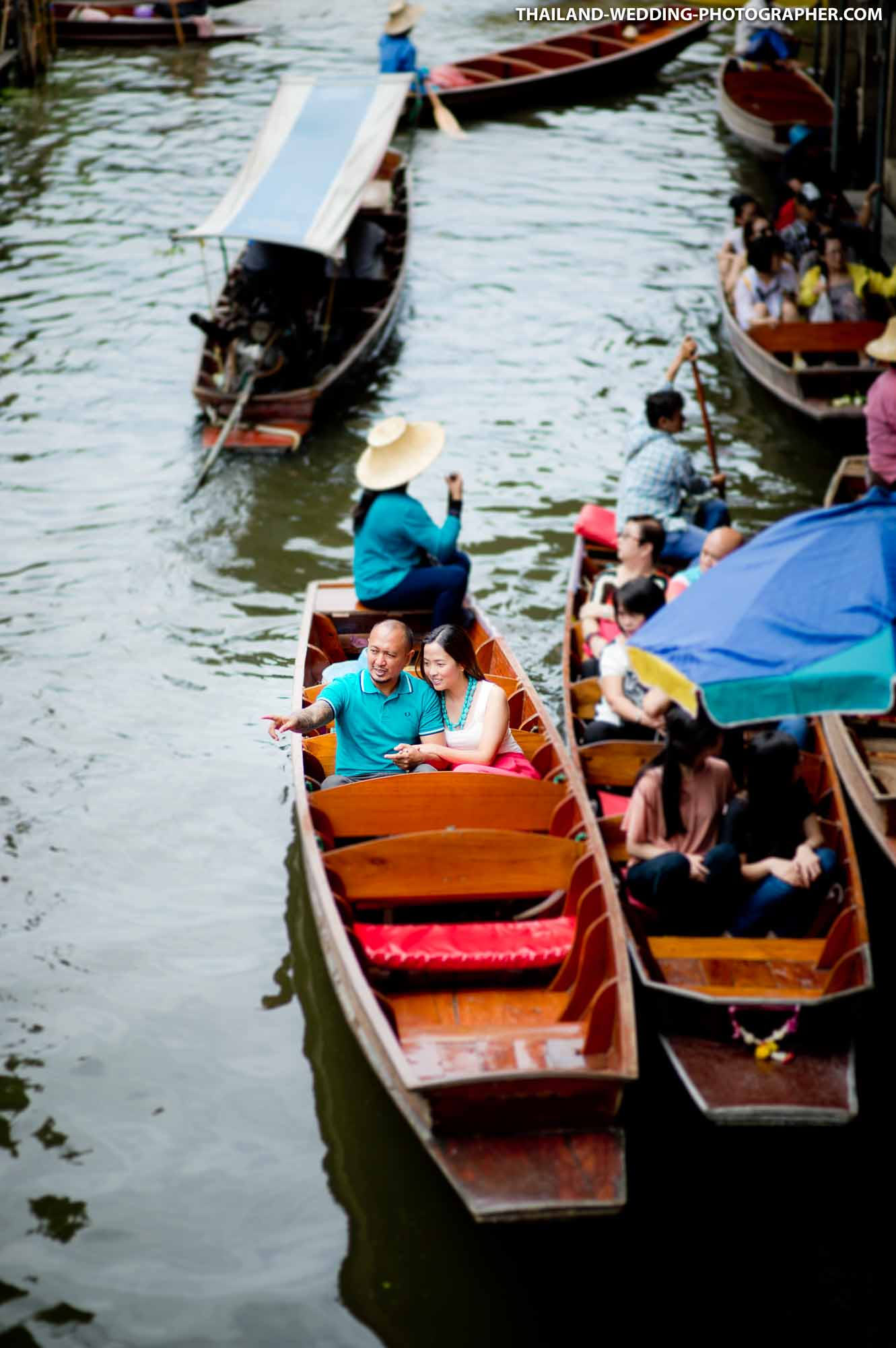 Damnoen Saduak Floating Market Ratchaburi Thailand Wedding Photography