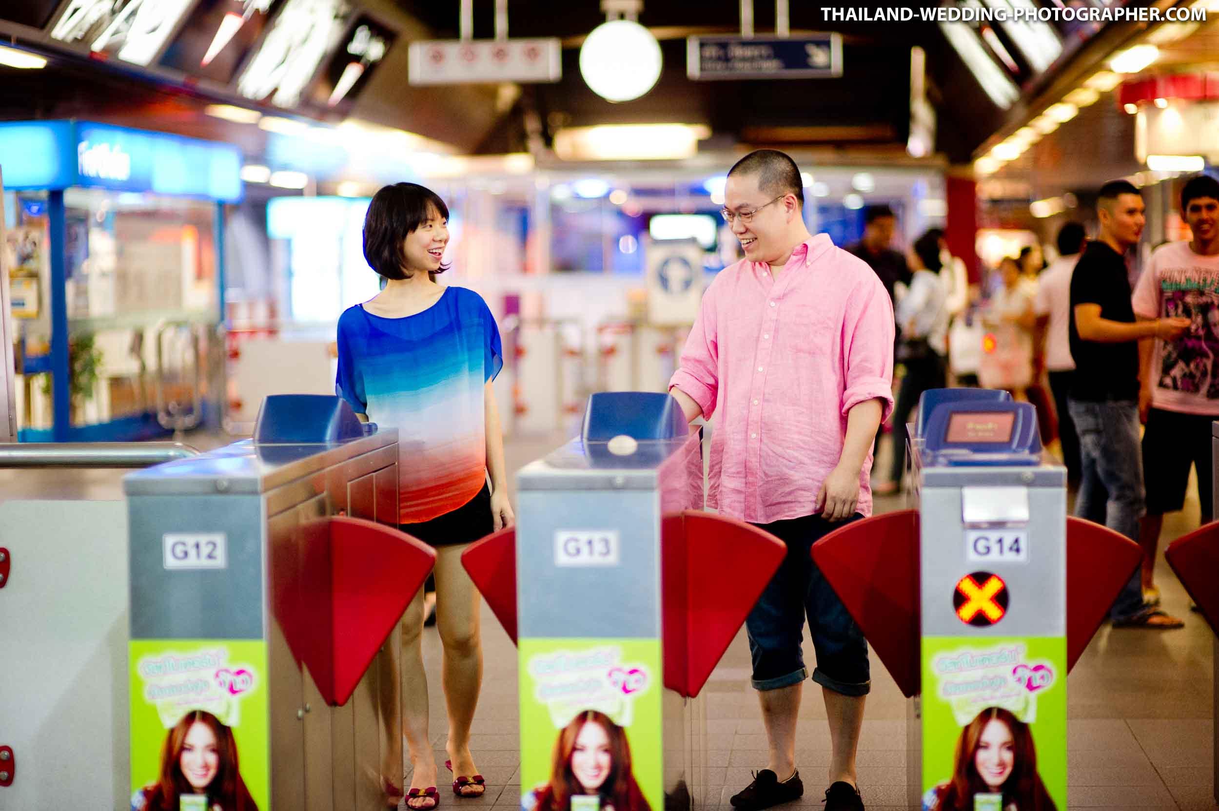 BTS Skytrain Bangkok Thailand Pre-Wedding