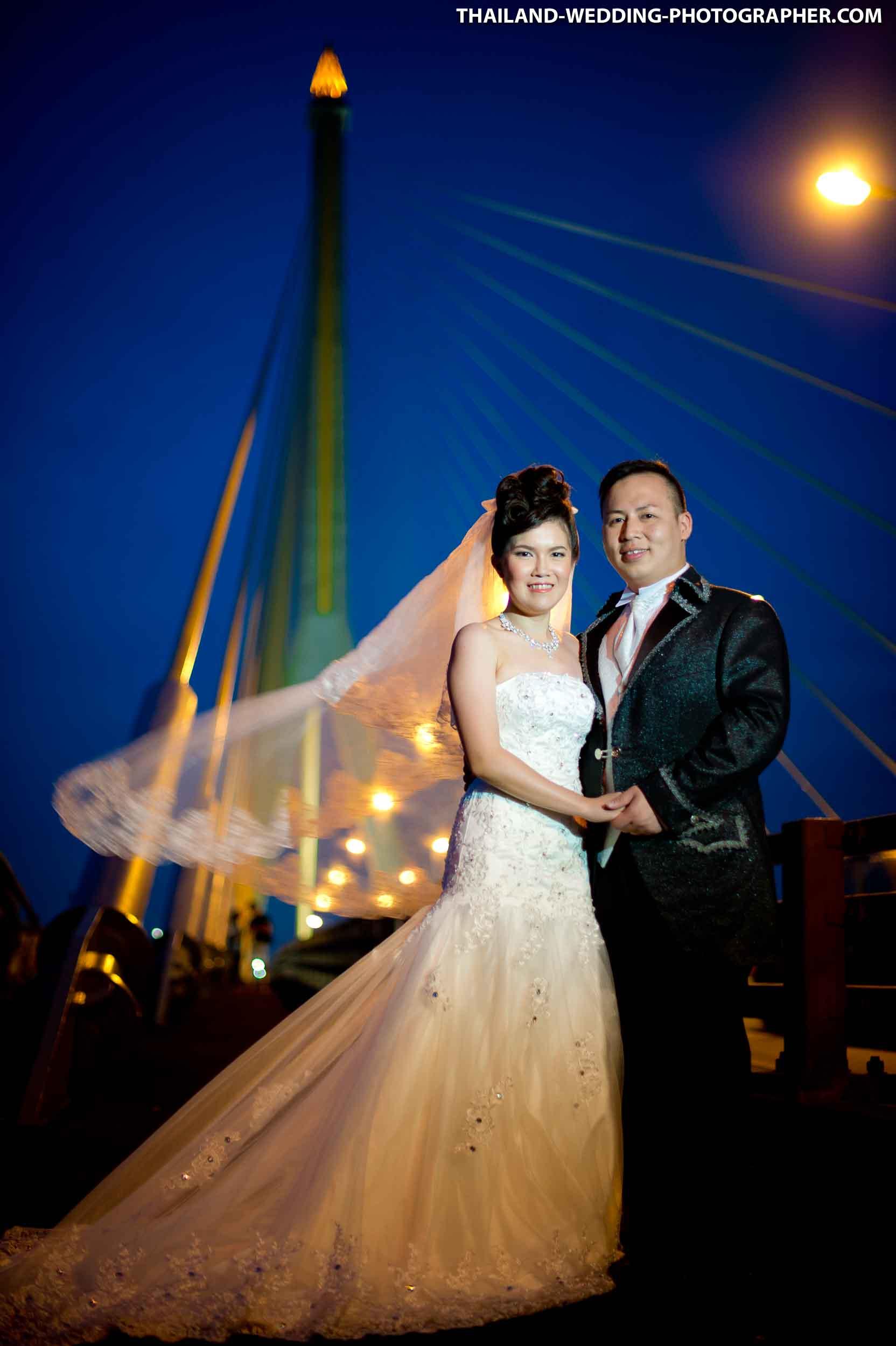 Rama VIII Bridge Bangkok Thailand Wedding Photography